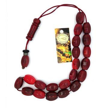 Kombolois  horn red, 21 Beads
