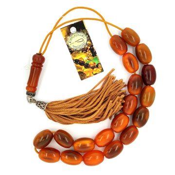Kombolois brown horn(19 beads) with tassel