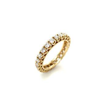 Women's ring, gold K14 (585°) with zircon