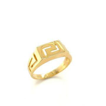 Men's ring, gold K14 (585°) meander