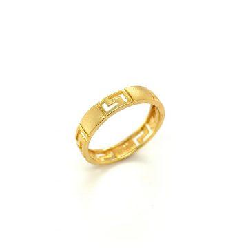 Women's ring, gold K14 (585°) meander