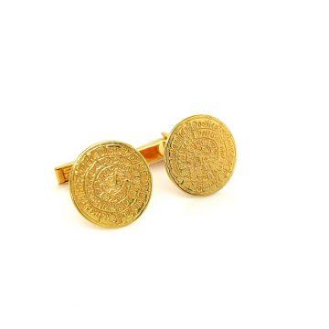 Cufflinks, gold K14 (585 °), Disc of Phaistos