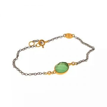 ARTEON BRACELET CHAIN SILVER 925° WITH ROUND STONE CRYSTAL, 12232-000