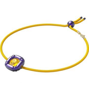 SWAROVSKI Dulcis necklace, Cushion cut crystals, Purple, 5613645