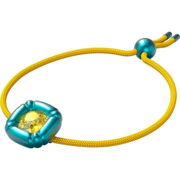 SWAROVSKI Dulcis bracelet, Cushion cut crystals, Blue, 5613667