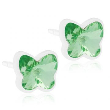 BLOMDAHL Earrings,  Butterfly Peridot ,6mm, 250B