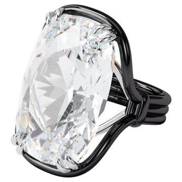 SWAROVSKI Harmonia ring Oversized crystal, White, Mixed metal, size 55, 5600946