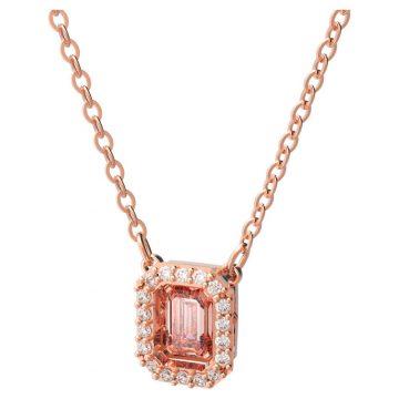 SWAROVSKI Millenia necklace Octagon cut Swarovski zirconia, Pink gold tone, 5614933