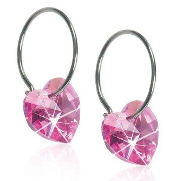 BLOMDAHL Earrings, Heart Rose 10mm Ring , 14mm,  90C
