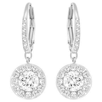 SWAROVSKI Angelic earrings Round, White, Rhodium plated, 5142721