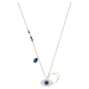 SWAROVSKI  Symbolic pendant Evil eye, Blue, Mixed metal finish, 5172560