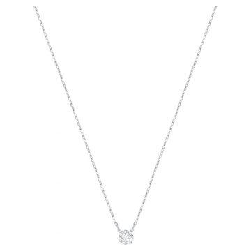 SWAROVSKI Attract necklace Round, White, Rhodium plated,5408442