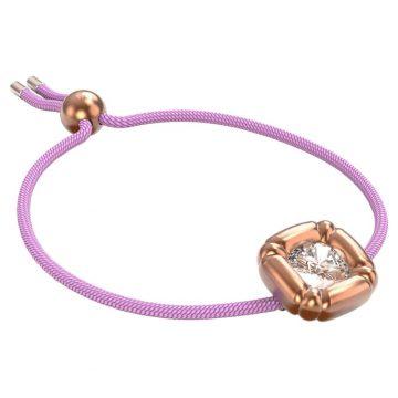 SWAROVSKIDulcis bracelet Cushion cut crystals, Purple, Rhodium plated,5617983