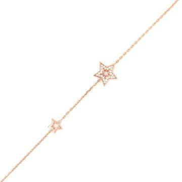 Women's bracelet, silver (925 °) star