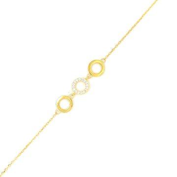 Women's bracelet, silver (925 °) three circles
