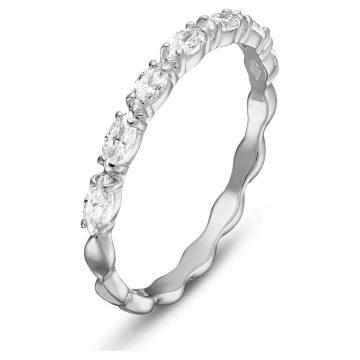SWAROVSKI Δαχτυλίδι Vittore Marquise Λευκό, Επιμετάλλωση ροδίου,size 55,5354786
