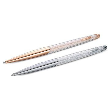 SWAROVSKI Στυλό Crystalline Nova Σετ 2 τεμαχίων, Λευκό, Φινίρισμα από διάφορα μέταλλα,5568760