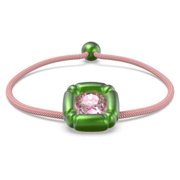 SWAROVSKI Βραχιόλι Dulcis Κρύσταλλα κοπής cushion, Πράσινο,5613643